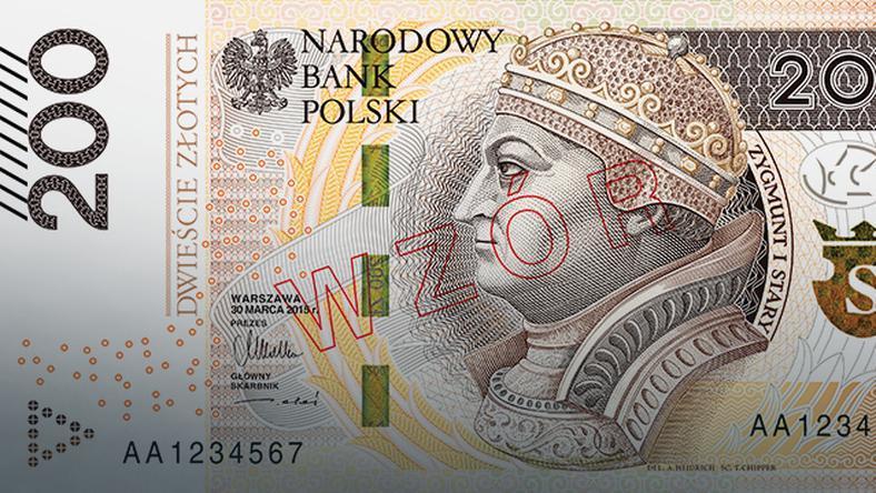 Zmodernizowany banknot onominale 200 zł wszedł doobiegu