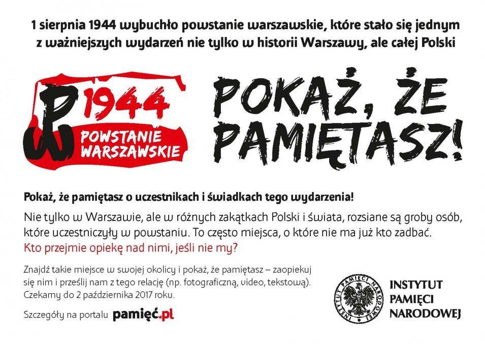 Powstanie Warszawskie - pokaż, że pamiętasz!