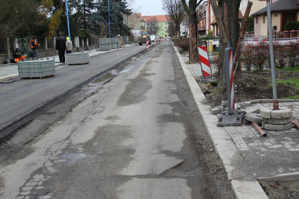 Przebudowa pięciu ulic