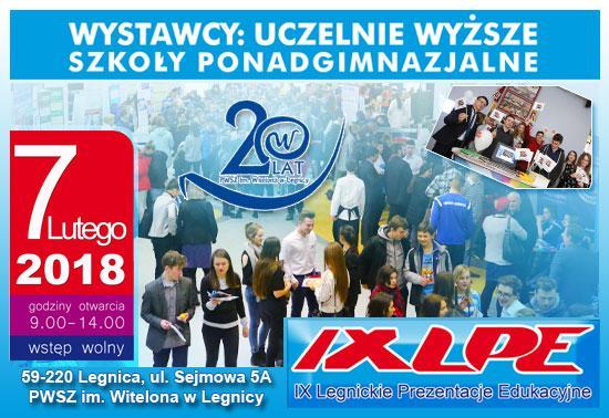 PWSZ wLegnicy zaprasza na Legnickie Prezentacje Edukacyjne
