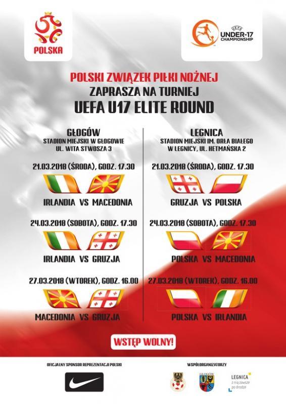 Reprezentacja Polski U-17 walczy oawans wLegnicy