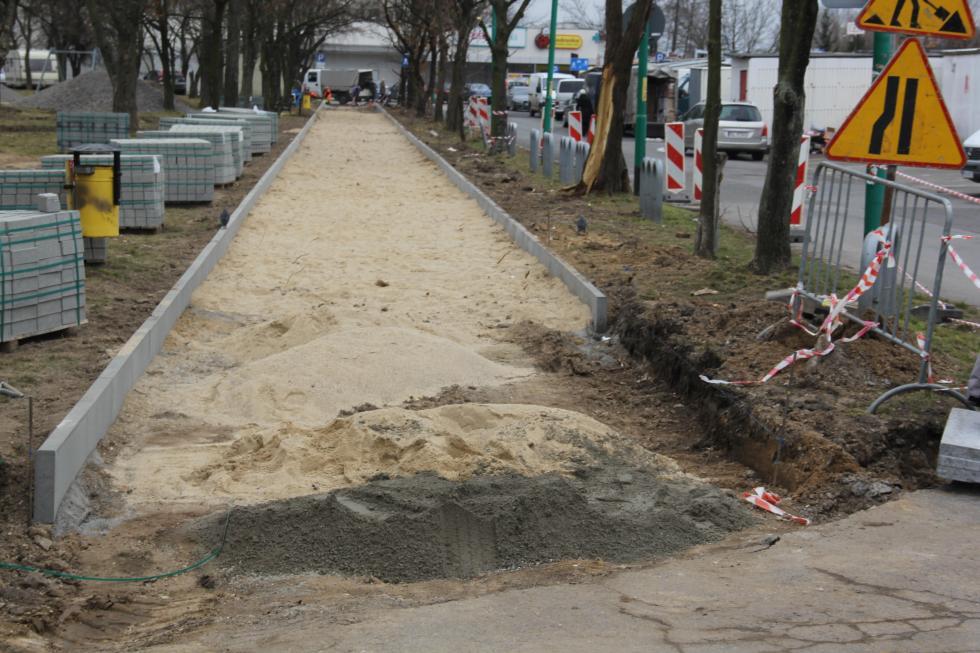 Przebudowa chodnika przy  ul. Górniczej na Koperniku