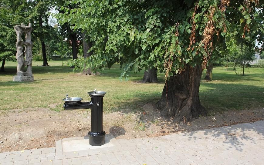 W parku Miejskim ktoś ukradł zdrój uliczny