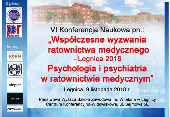 Współczesne wyzwania ratownictwa medycznego - Legnica 2018