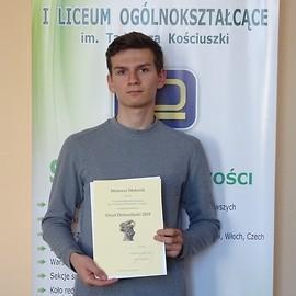 """""""Orzeł Dolnośląski 2018"""" dla wybitnego ucznia zLegnicy"""