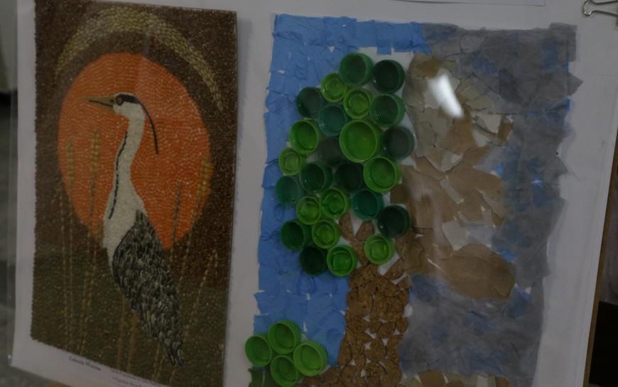 Uczniowie malują ifotografują przyrodę