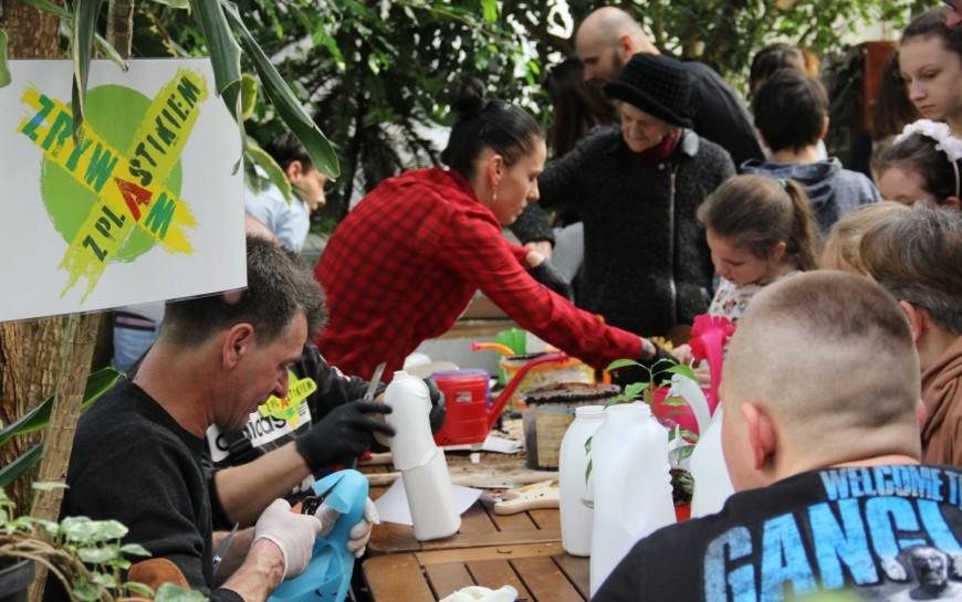 Terapia szokowa dla gości palmiarni, czyli zrywanie zplastikiem