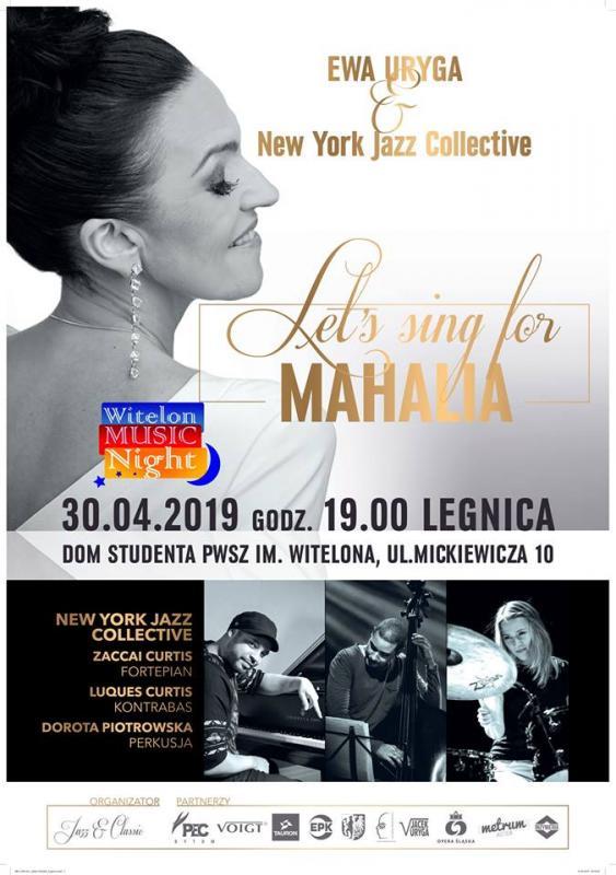 """Ewa Uryga zprojektem """"Let's sing for MAHALIA"""""""