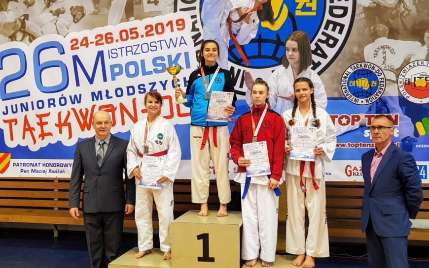 Klaudia Wiśniewska wywalczyła mistrzostwo kraju juniorów wtaekwon-do