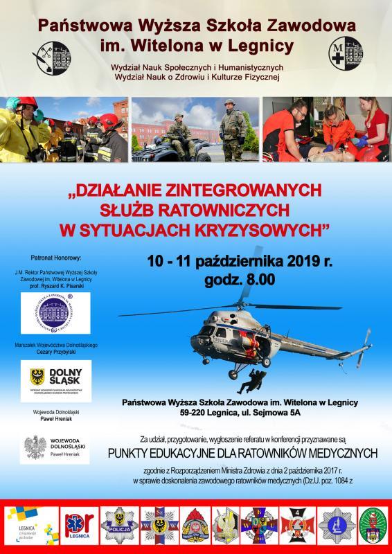 Konferencja: Działania zintegrowanych służb ratowniczych wsytuacjach kryzysowych