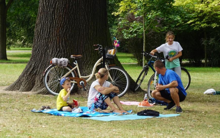 Bawiliśmy się wparku Miejskim podczas letniego leniuchowania