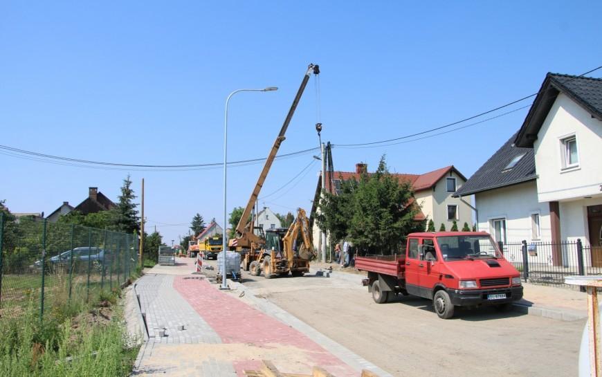 Przebudowa ul. Szczytnickiej. Prace zaawansowane