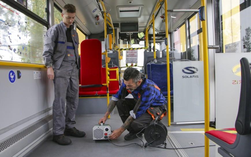 Ozonowanie iodkażanie autobusów MPK