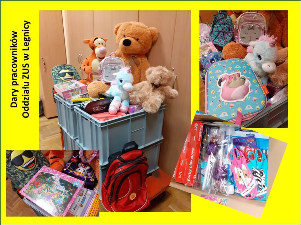 Pracownicy legnickiego ZUS zebrali mnóstwo darów dla potrzebujących dzieci
